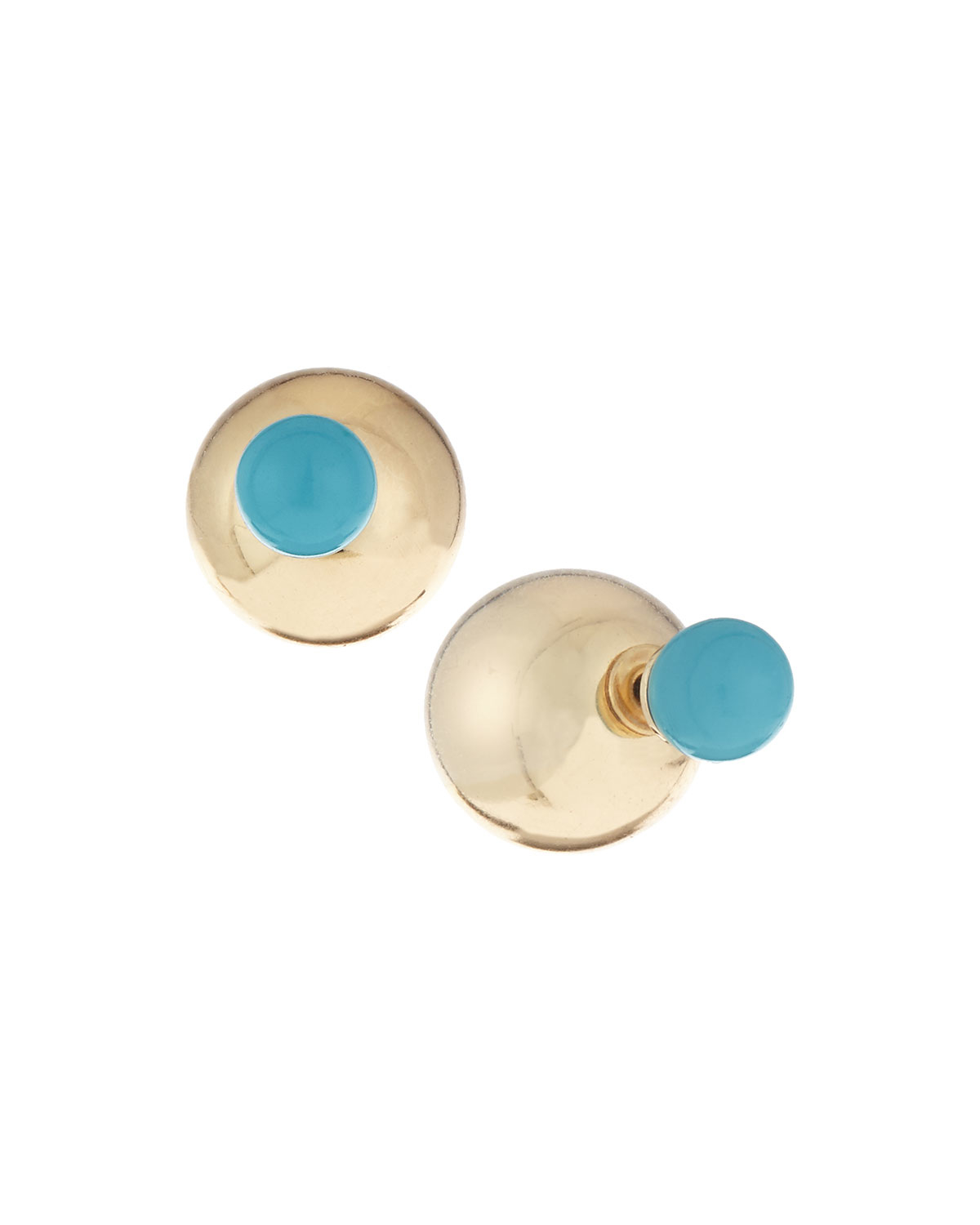 Lydell Nyc Blue Crackle Stud Earrings D4tMv