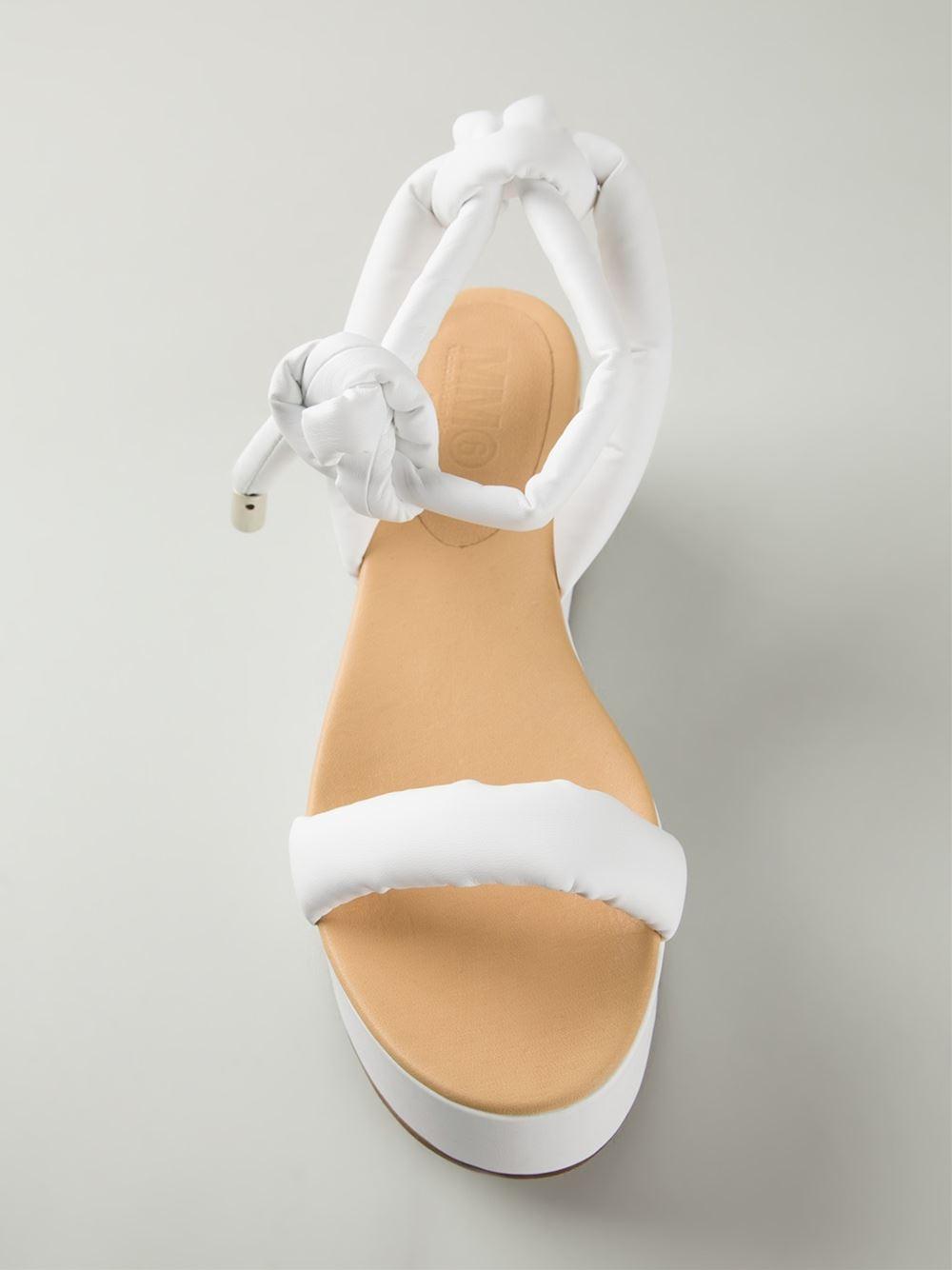 6bb0b3991eb2 Lyst - MM6 by Maison Martin Margiela Flat Platform Sandals in White