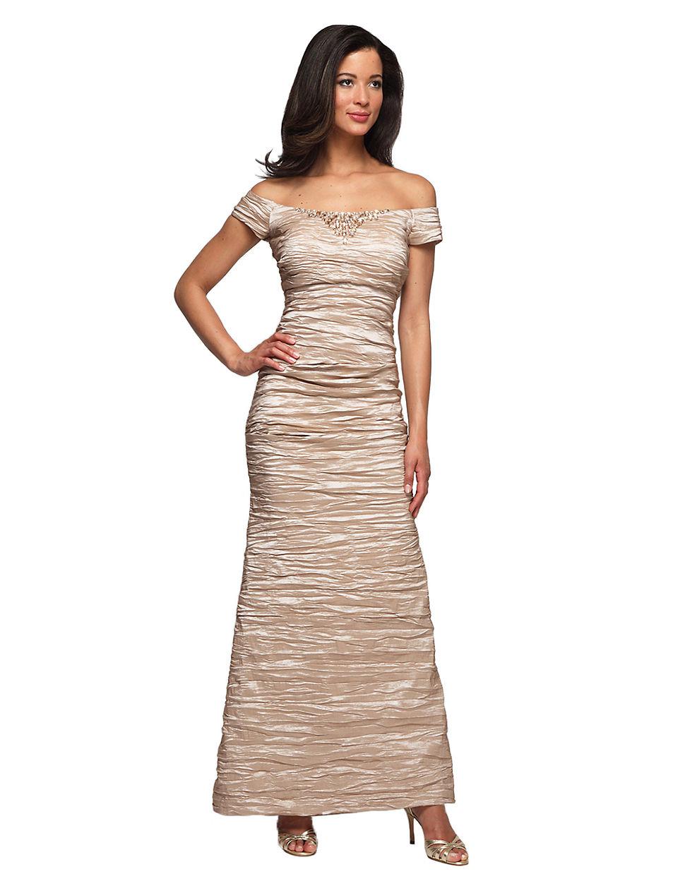 Alex Evenings Off-The-Shoulder Gown_Evening Dresses_dressesss