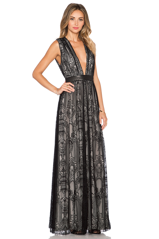 54ee5151bd30 Alice + Olivia Sybil Maxi Dress in Black - Lyst
