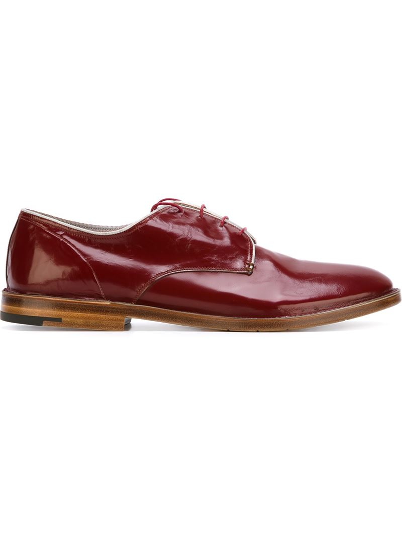 premiata stacked heel derby shoes in for save 31