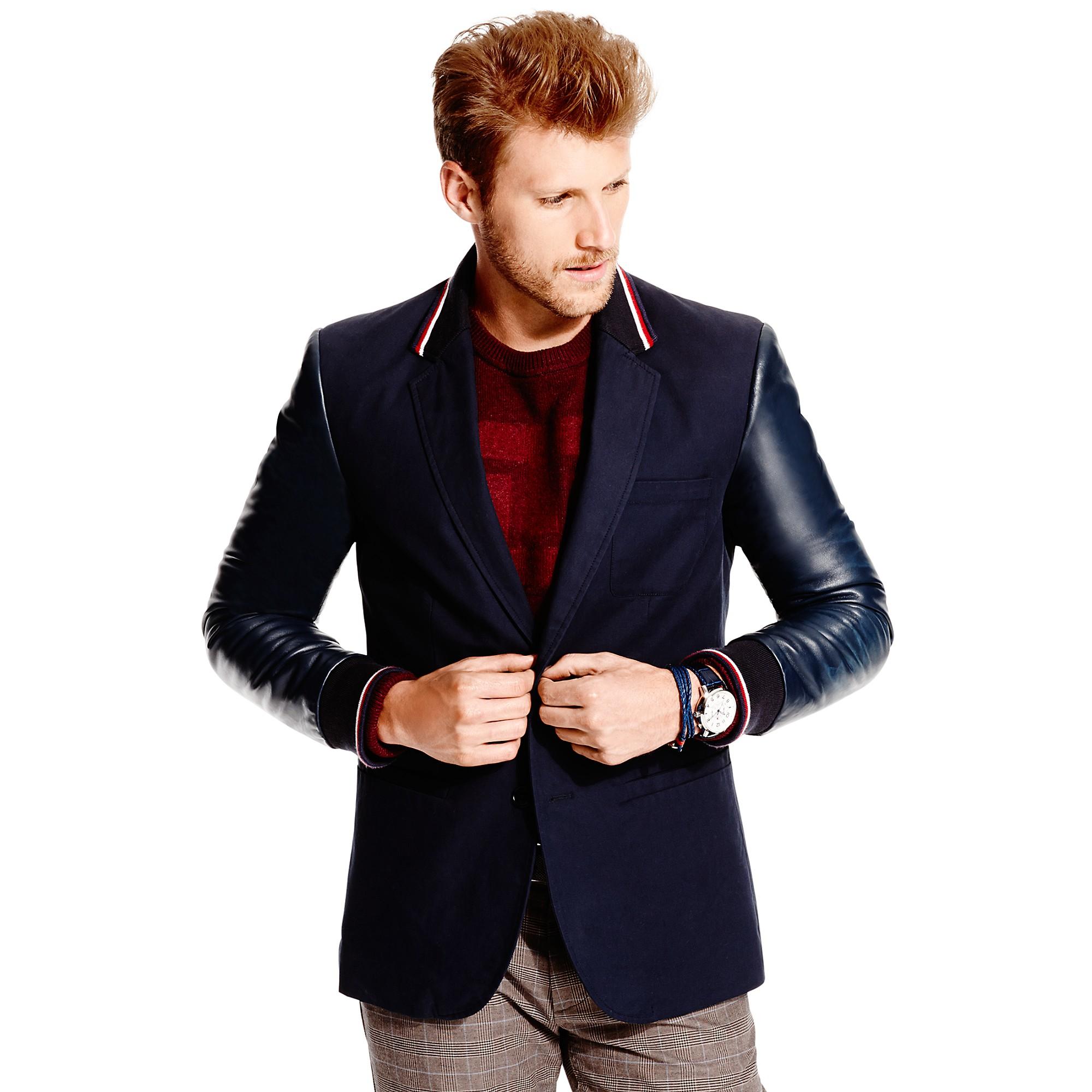 tommy hilfiger varsity sport coat in blue for men navy. Black Bedroom Furniture Sets. Home Design Ideas