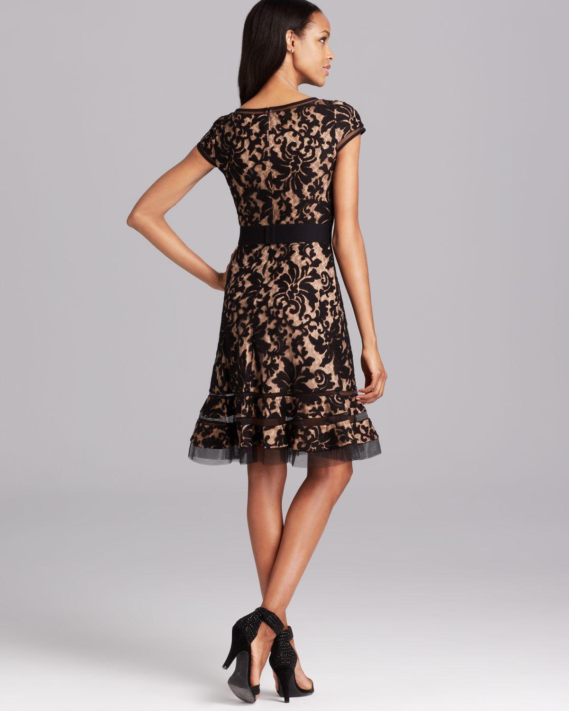 642803479ff Lyst Tadashi Shoji Cap Sleeve Horsewire Lace Dress In Black
