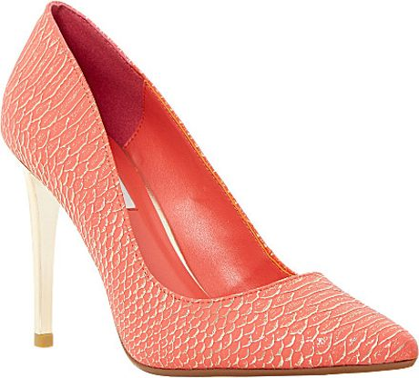 Dune Betsee Pointed-Toe Court Shoes - For Women in Pink (Coral