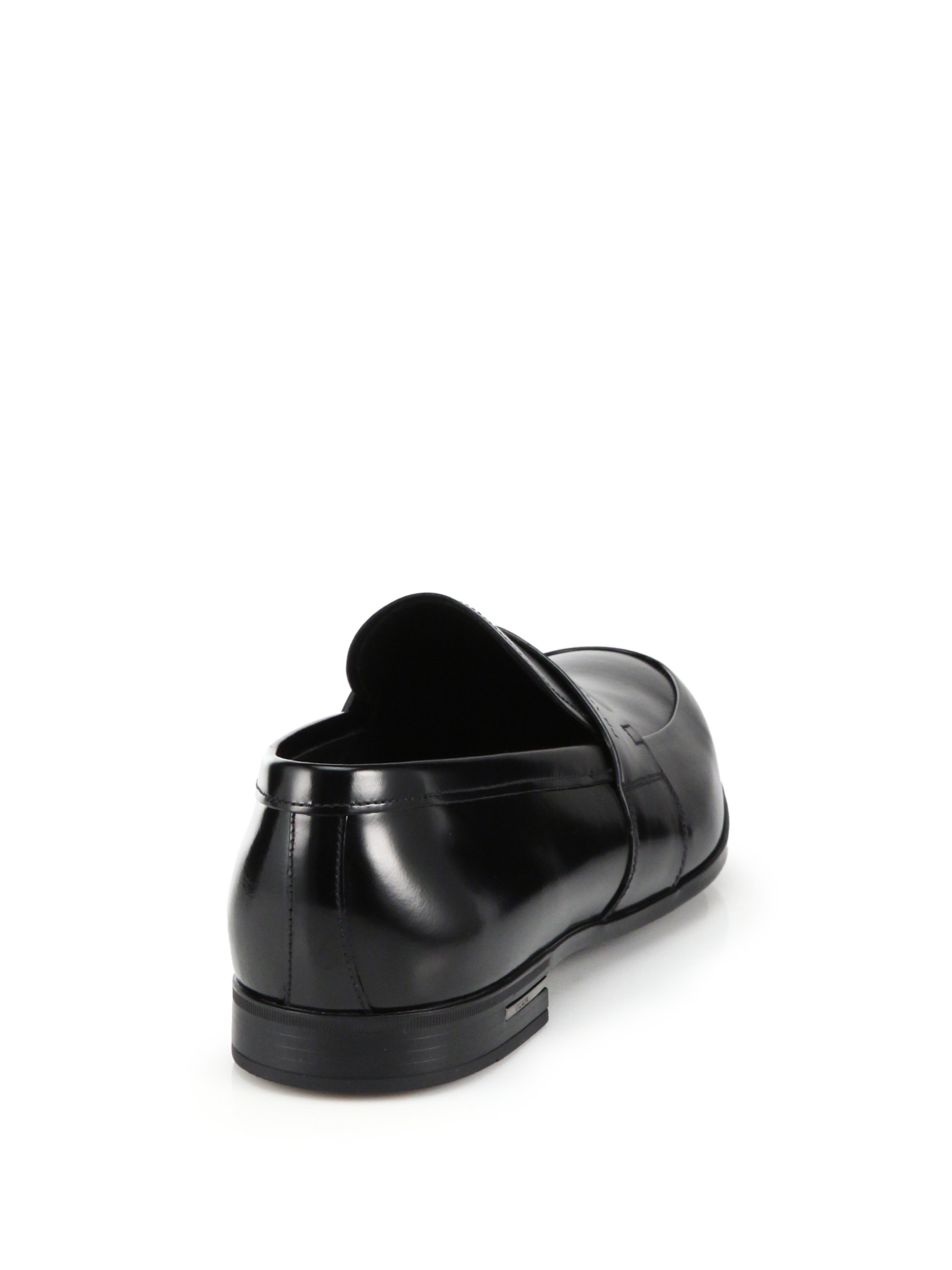 how much is the prada saffiano - Prada Spazzolato Leather Penny Loafers in Black for Men | Lyst
