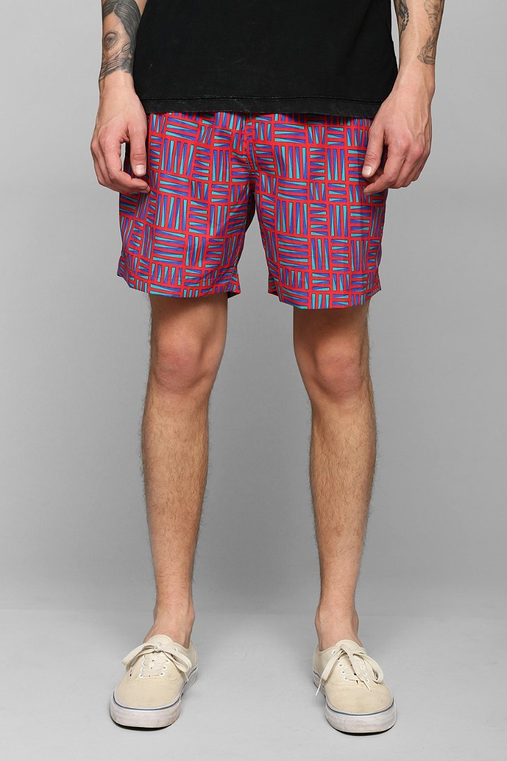 de2ac23b3c Urban Outfitters Trunks Swim Surf Co San O Short in Red for Men - Lyst