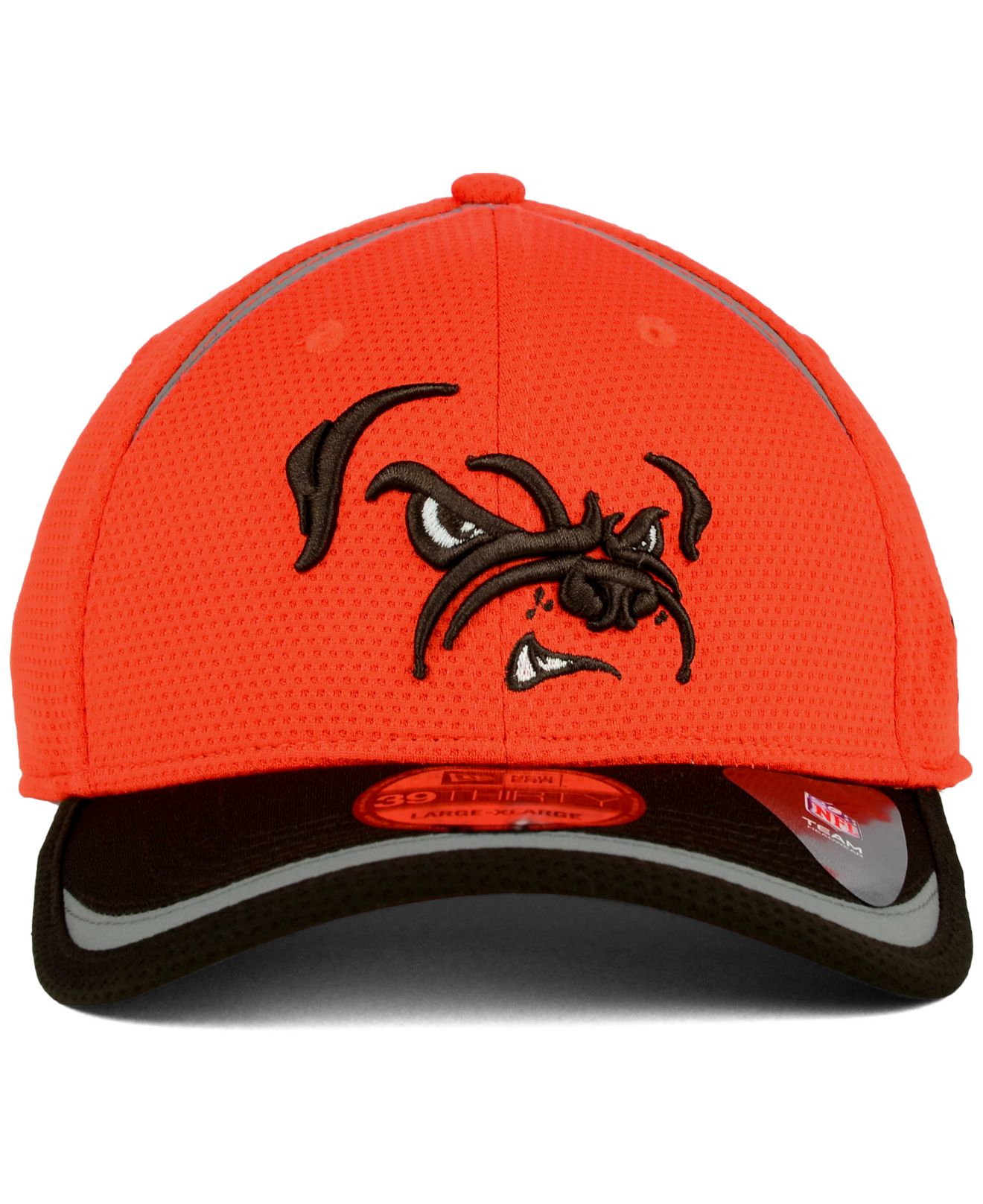official photos 1ecfb 1427e Lyst - KTZ Cleveland Browns Reflective 2-tone 39thirty Cap in Orange ...