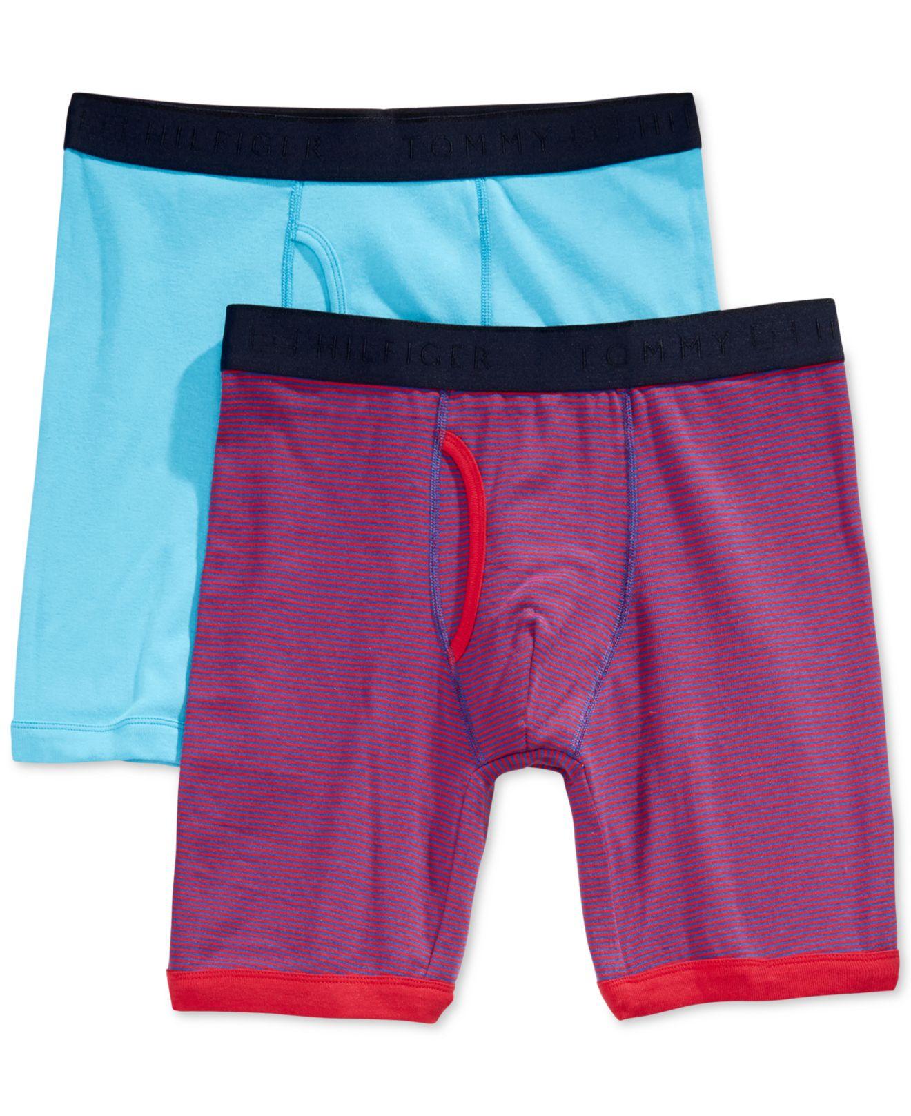 tommy hilfiger 2 pack boxer briefs in blue for men lyst. Black Bedroom Furniture Sets. Home Design Ideas
