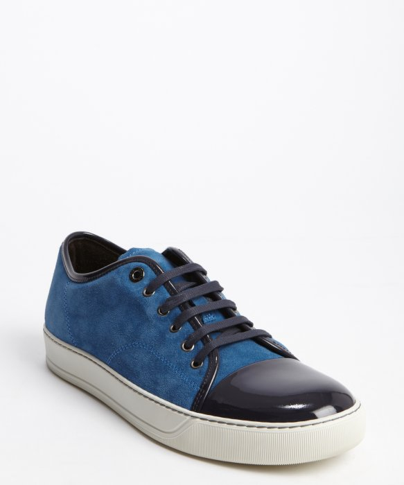 toe cap sneakers - Blue Lanvin 6n0814P25