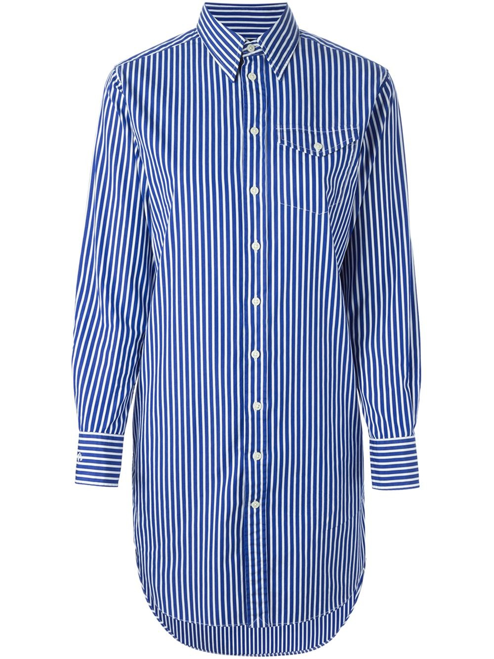 Polo Ralph Lauren Striped Shirt Dress In Blue White Lyst