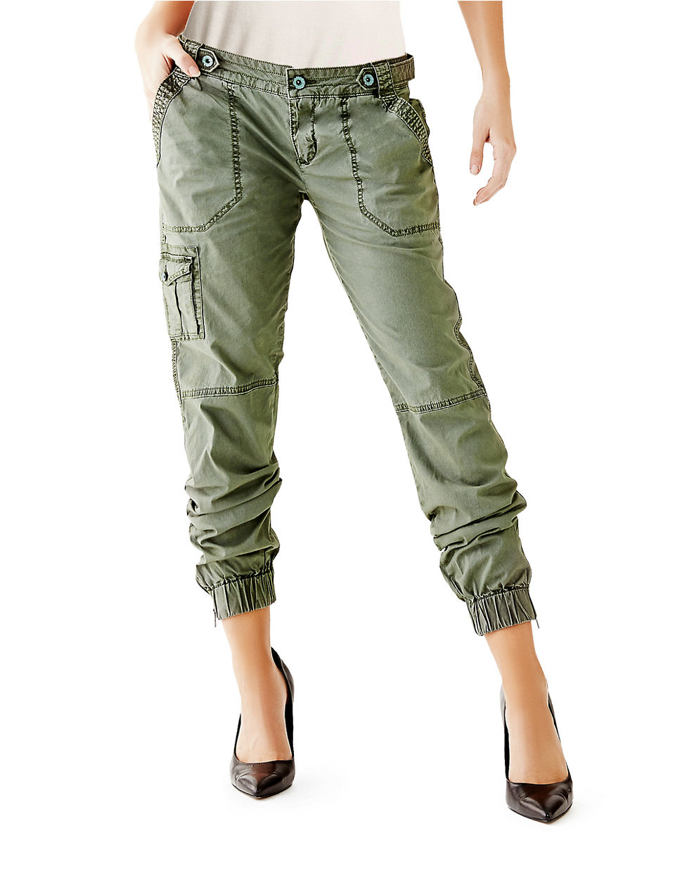 Popular New Fashion Women39s Army Green Cargo Pants Casual Trousers Outdoor