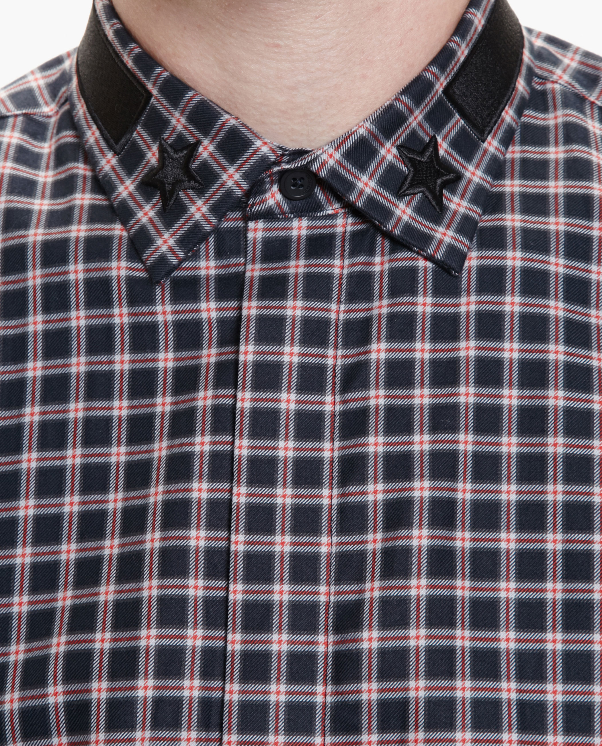 693771fdff41 Lyst - Givenchy Cuban Fit Checked Cotton Shirt in Black for Men