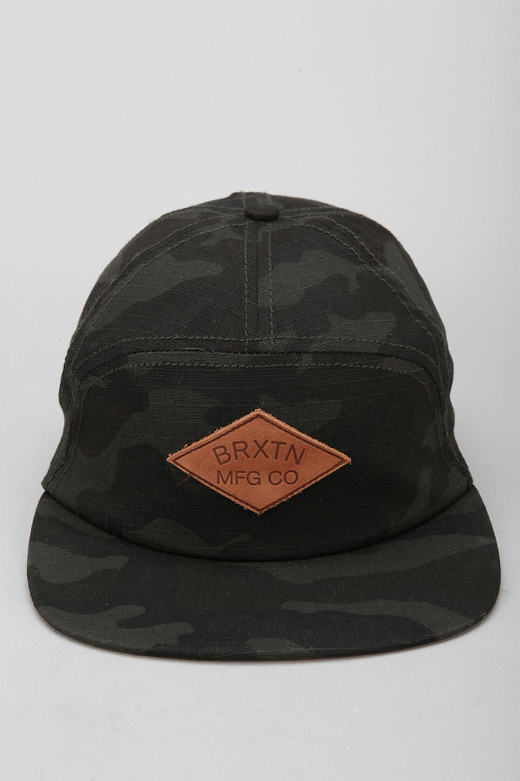 62a1b425ea7 Lyst - Urban Outfitters Brixton Wharf 7panel Hat in Black for Men