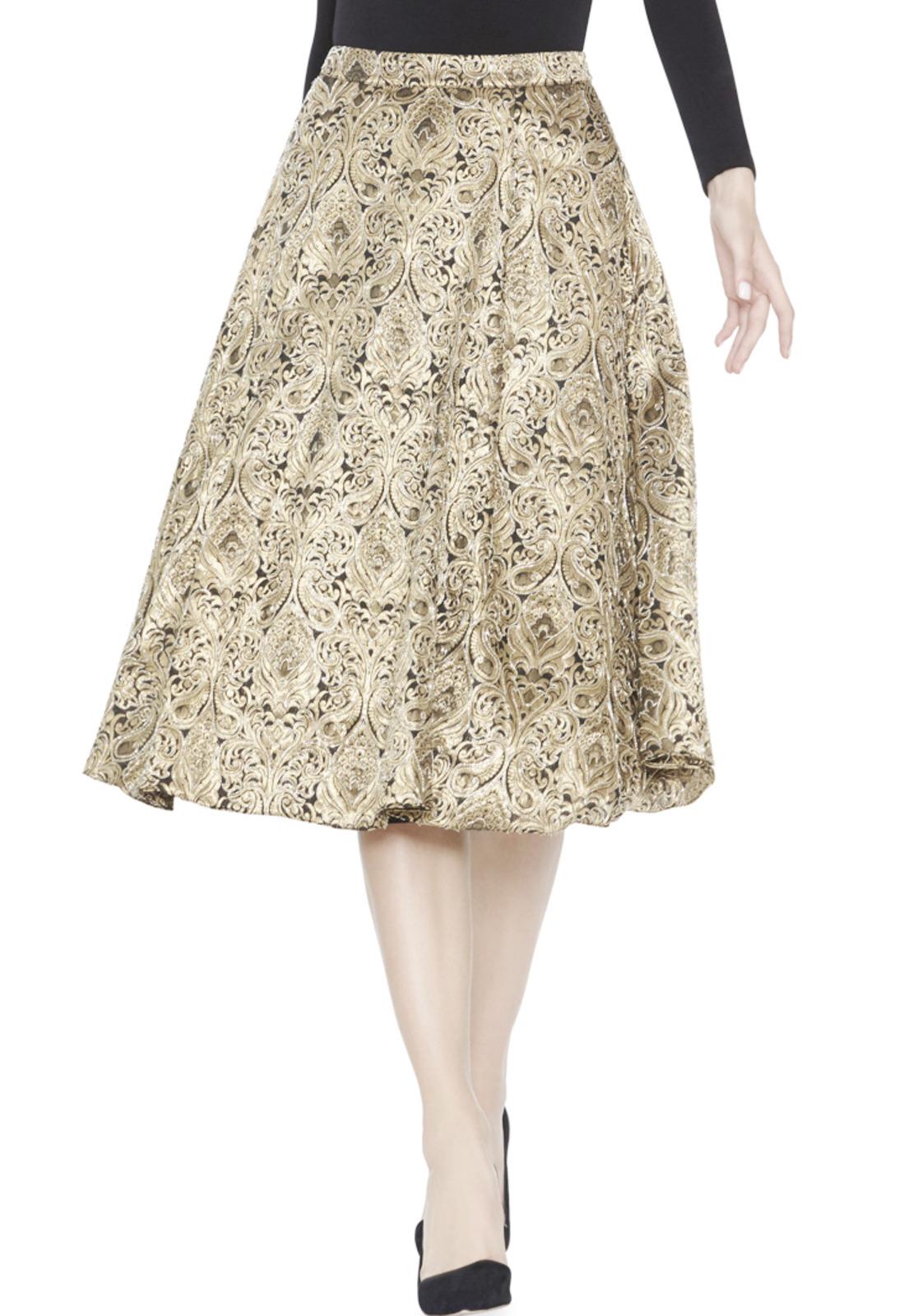 Lyst - Alice + Olivia Rachelle Midi Gown Skirt in Metallic ca5c6226f