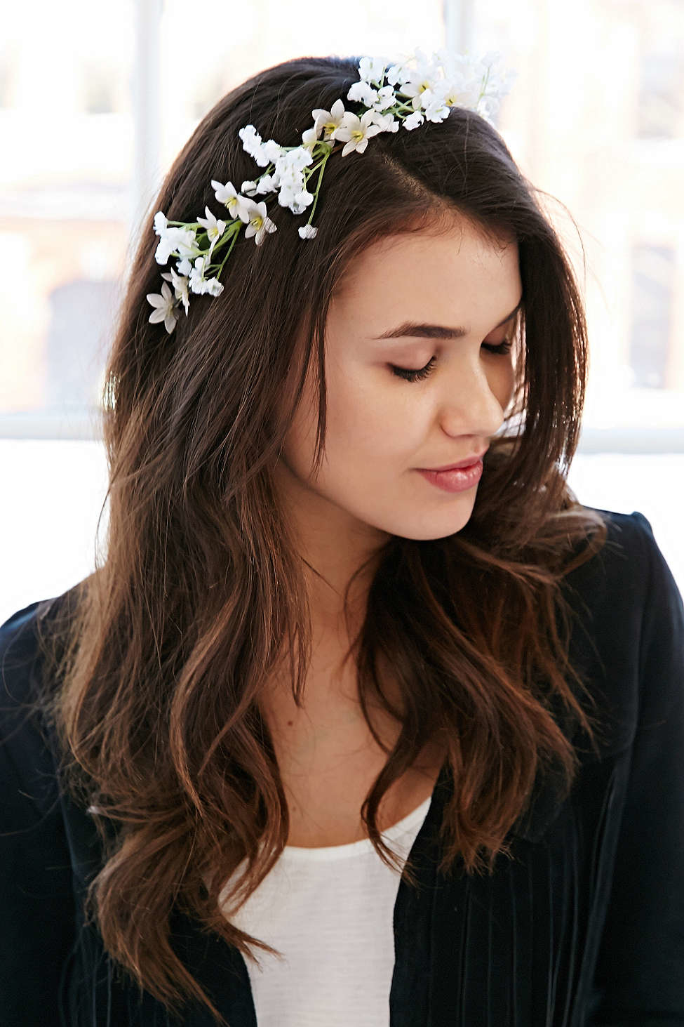 Lyst Urban Outfitters Island Falls Flower Crown In White