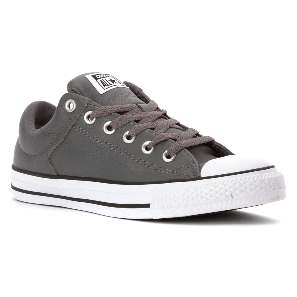 3541eb3d6c964b Lyst - Converse Chuck Taylor All Star Hi Street Ox Leather in Gray ...