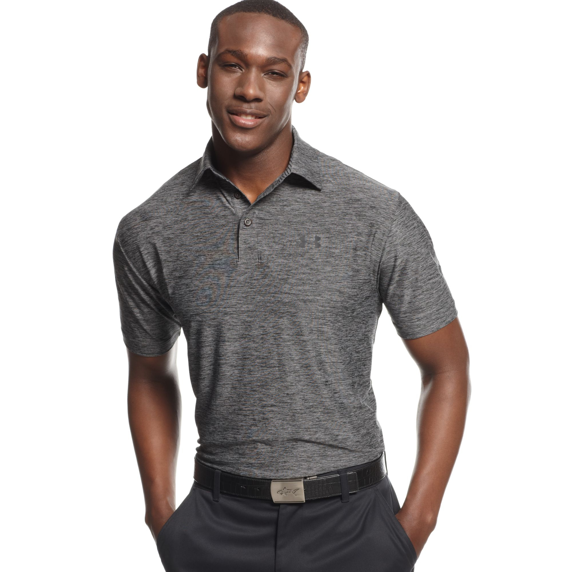 Lyst Under Armour Elevated Heather Performance Golf Polo