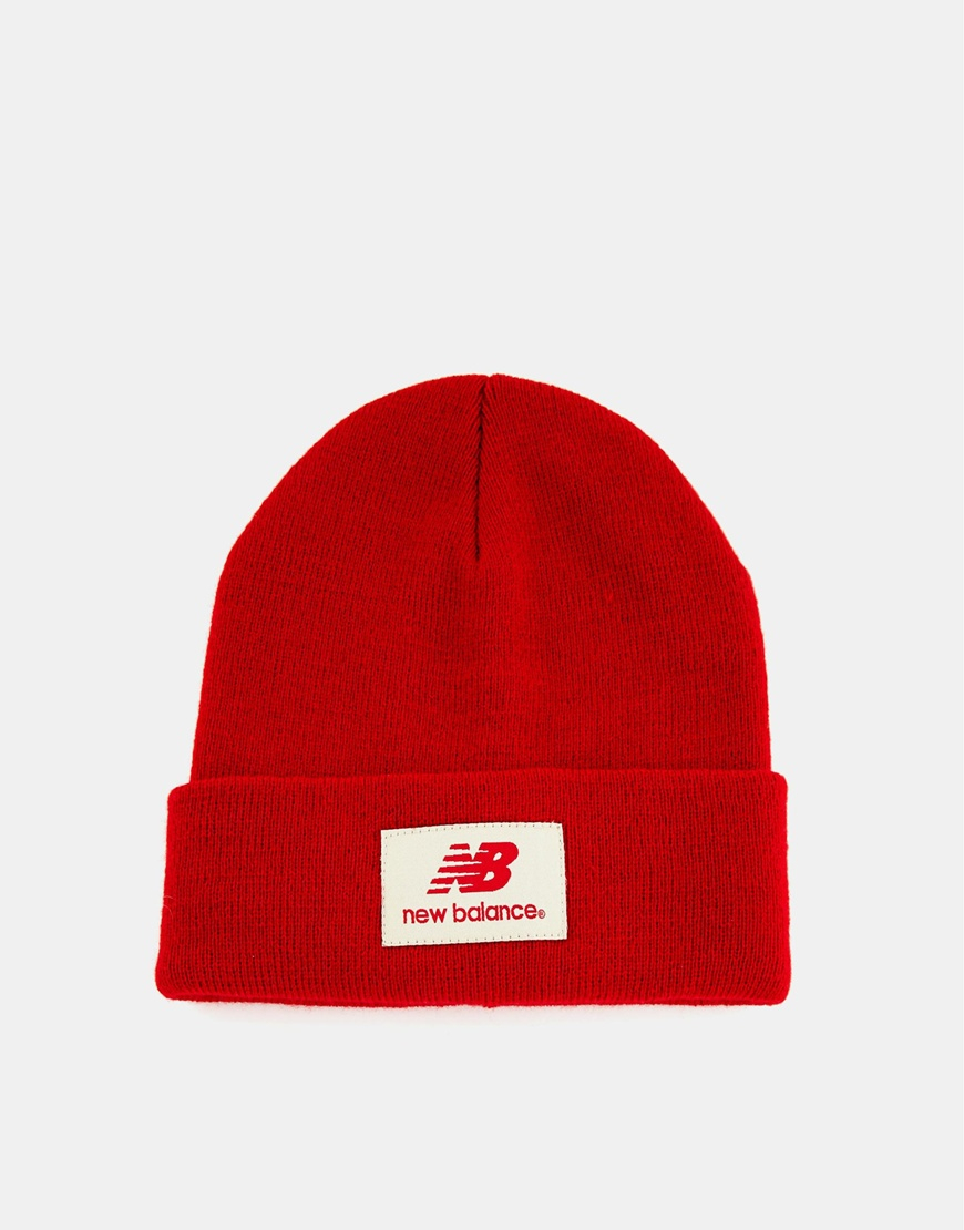 Lyst - New Balance Troy Beanie Hat in Red for Men 5db99b80ac46