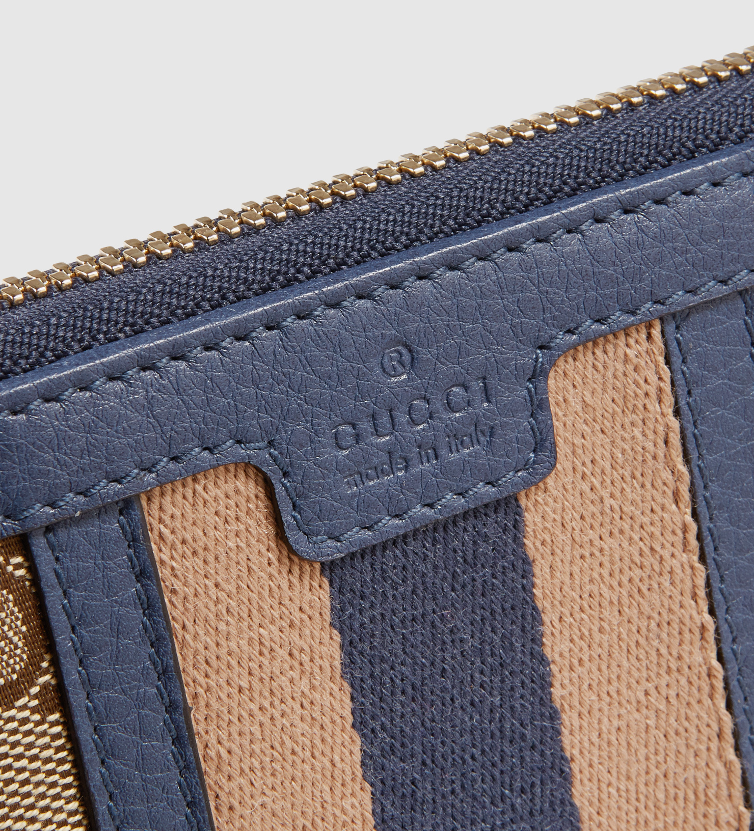 7a321f691690 Lyst - Gucci Rania Original Gg Canvas Zip Around Wallet in Blue