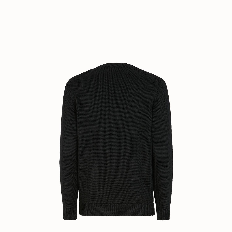 b3c8cb93e7cc Lyst - Fendi Logo-intarsia Wool Sweater in Black for Men - Save 33%