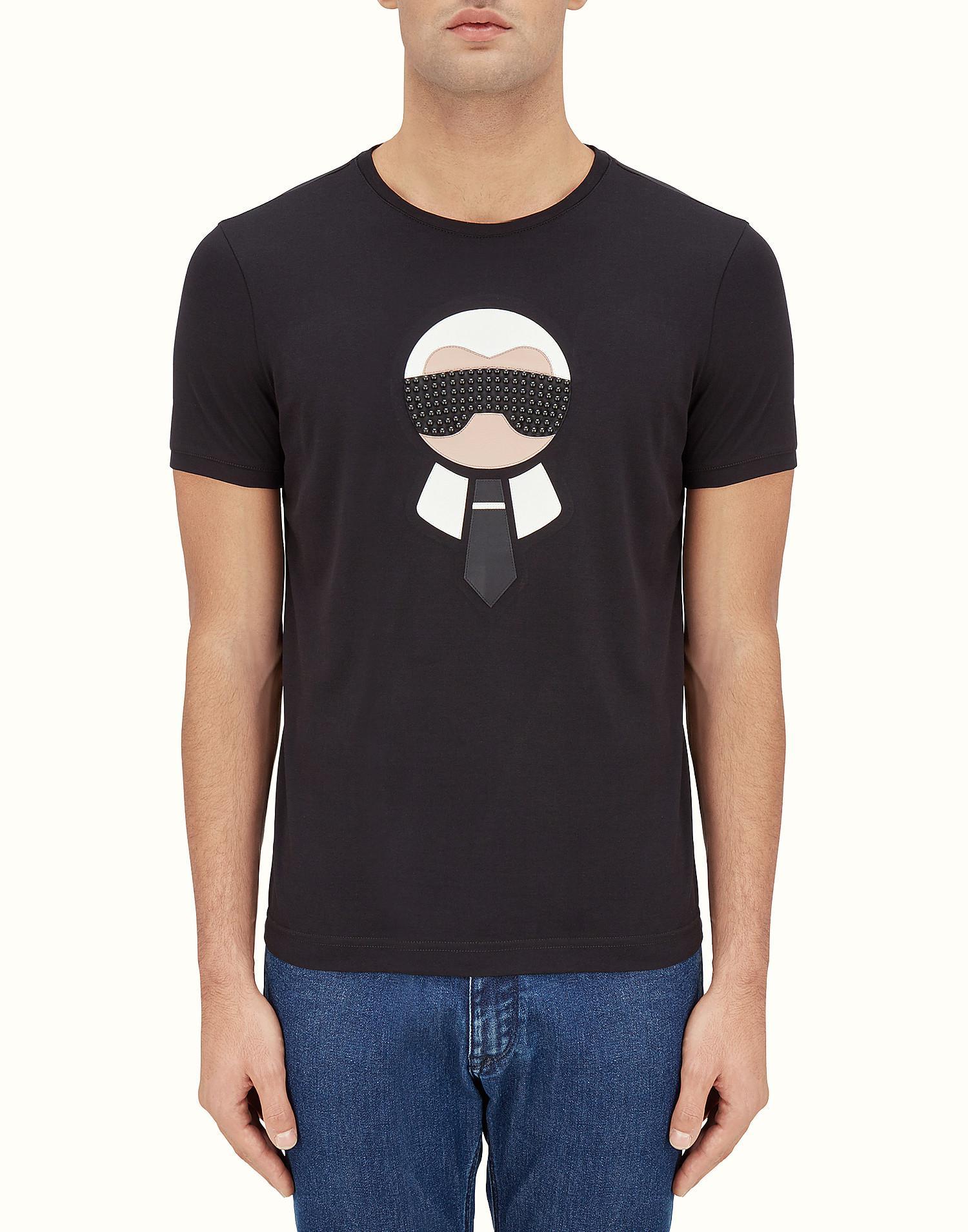 2b4c6411fcc Lyst - Fendi T- Shirt T- Shirt in Black for Men