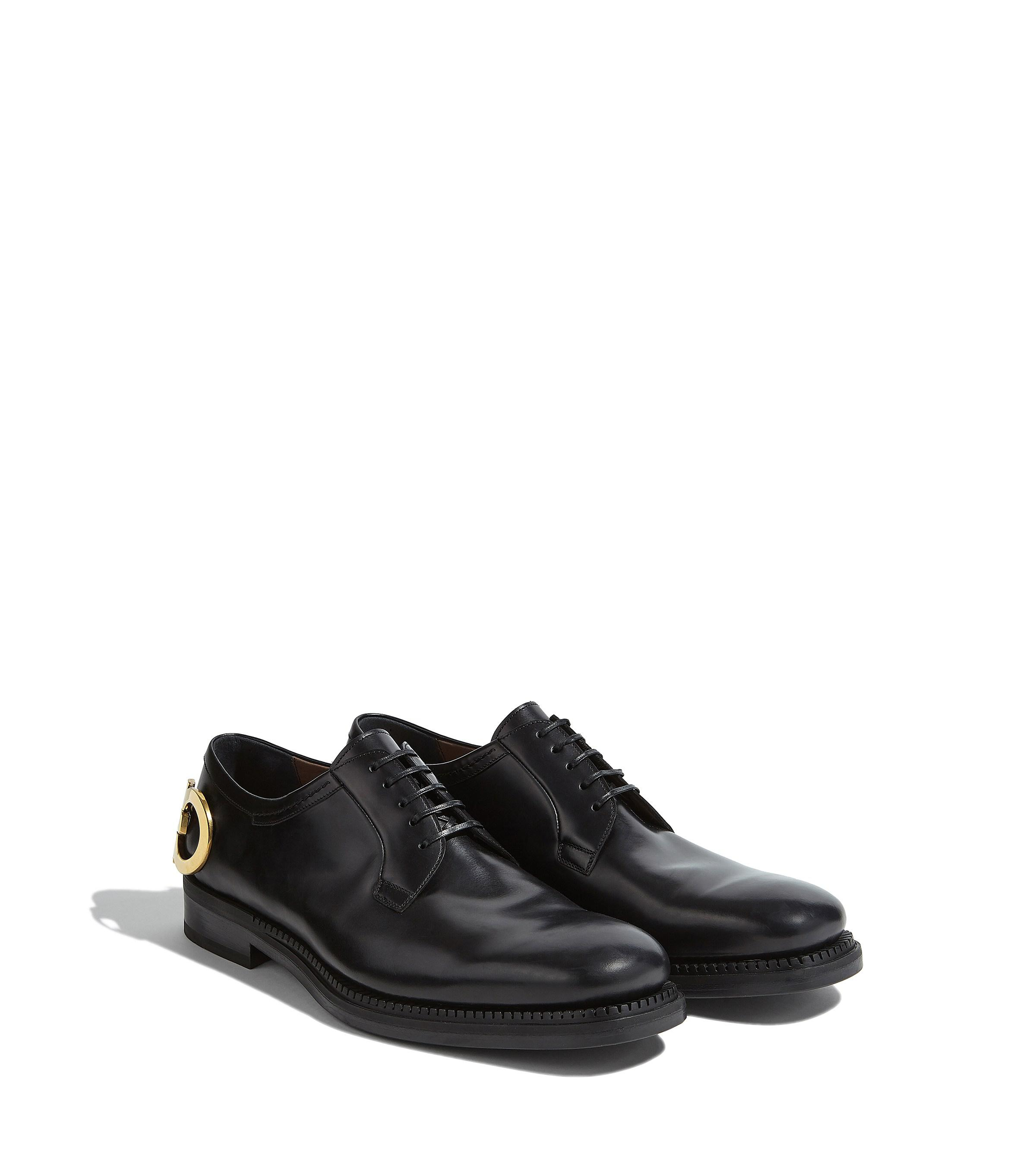 f9c10321d814c4 Lyst - Ferragamo Gancini Derby Shoe in Black for Men - Save 22%