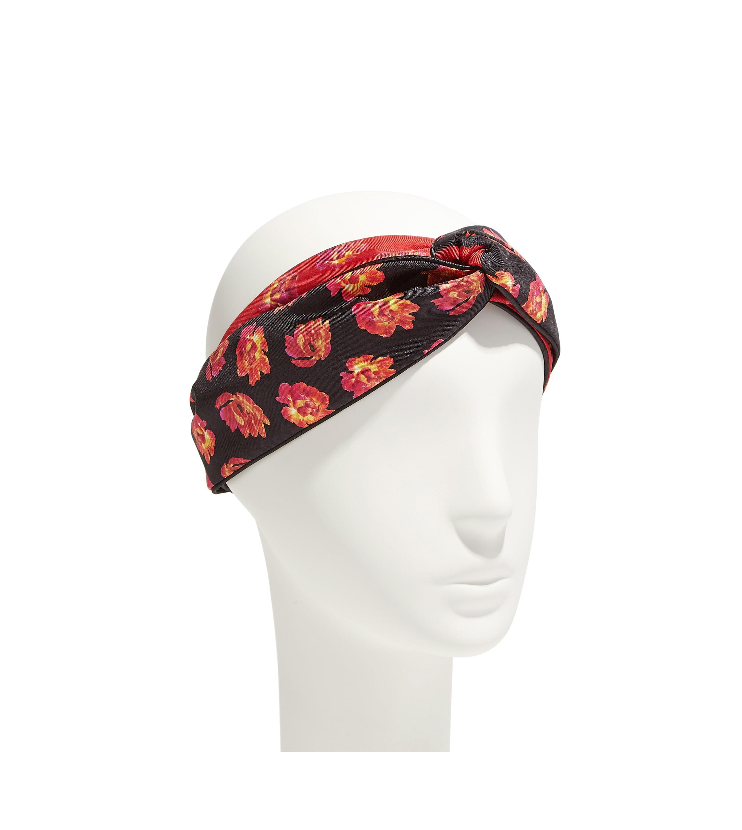Lyst Ferragamo Silk Flower Headband In Red