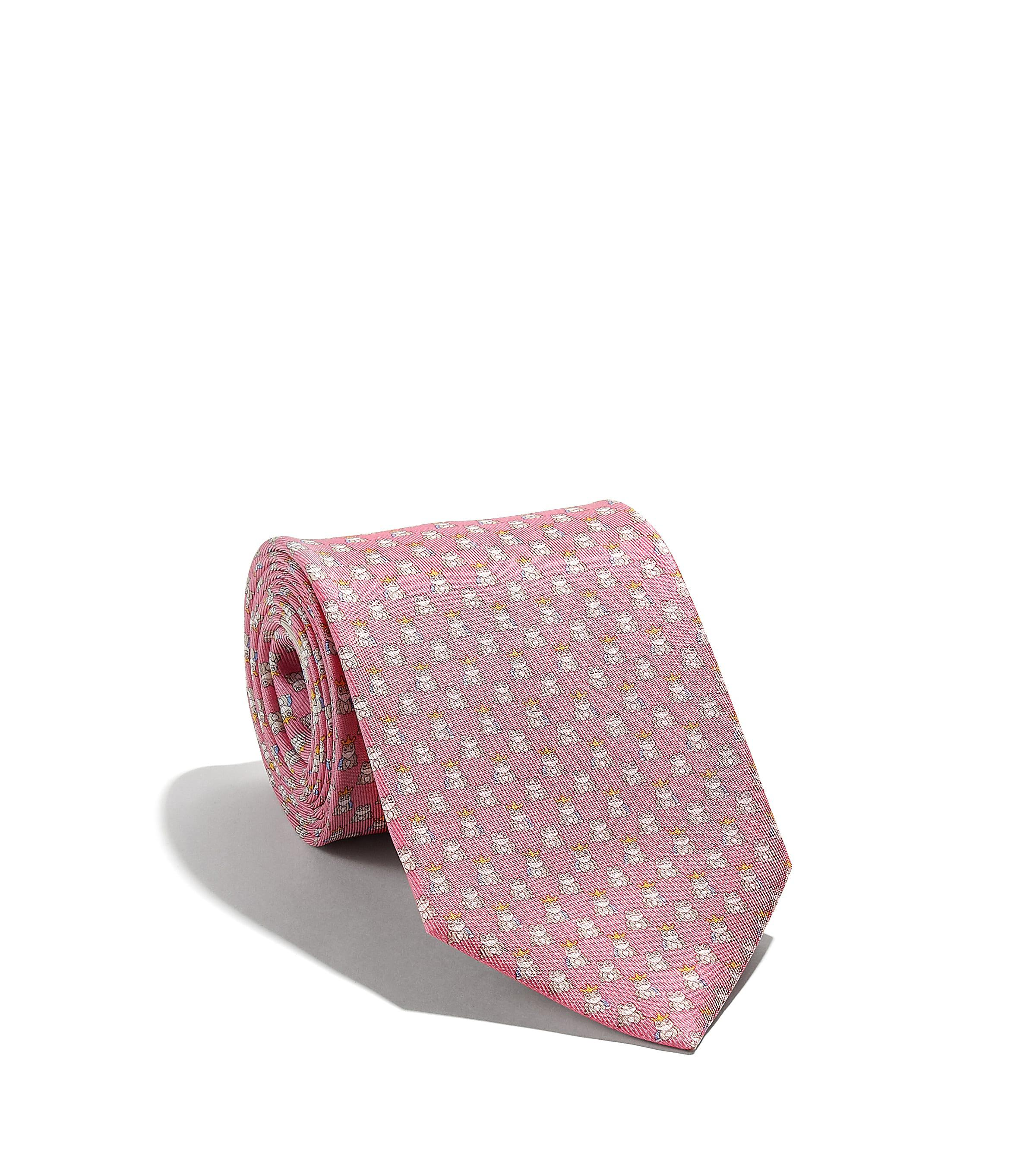 698cd2f6817e Ferragamo Frog-print Tie in Pink for Men - Lyst
