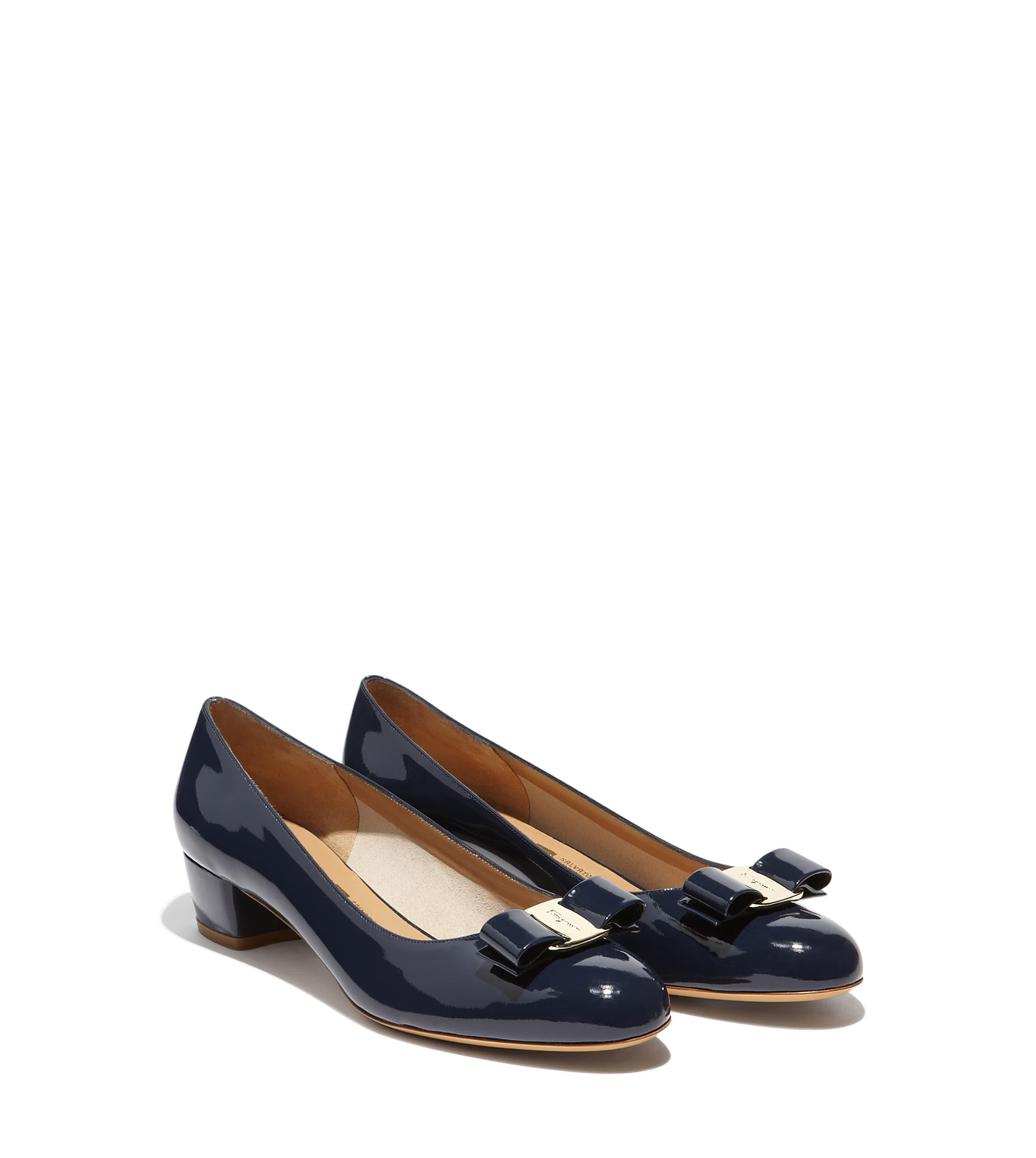 deca5163233a Lyst - Ferragamo Vara Bow Pump Shoe in Blue - Save 5%