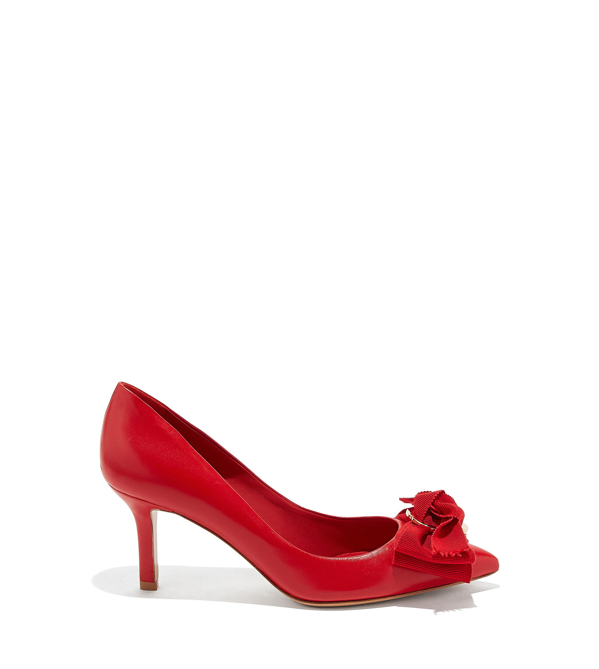 5d2ad0a5671 Lyst - Ferragamo Peony Bow Pump Shoe in Red