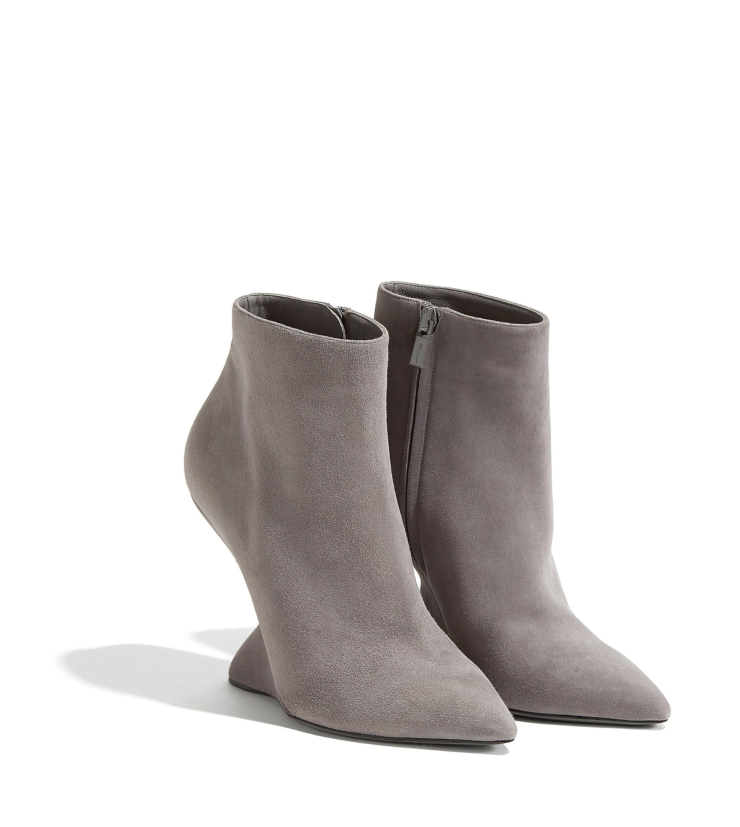 1e8e75d53541 Lyst - Ferragamo F Wedge Bootie in Gray