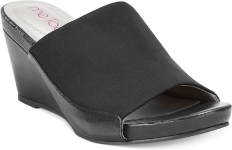 Me Too Hampton Slide Platform Wedge Sandals In Black Lyst
