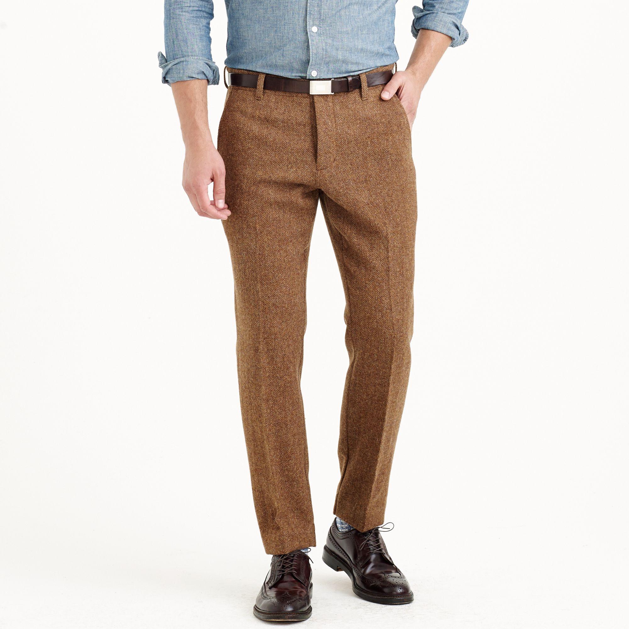 J Crew Wallace Barnes Suit Pant In Herringbone English
