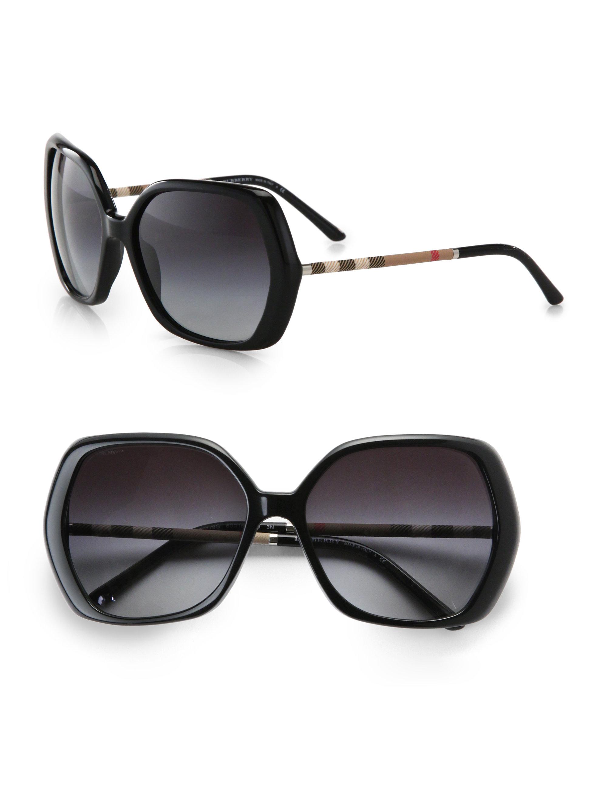 e048930758b Lyst burberry glam check butterfly sunglasses in brown jpg 2000x2667 Burberry  black plastic eye frames