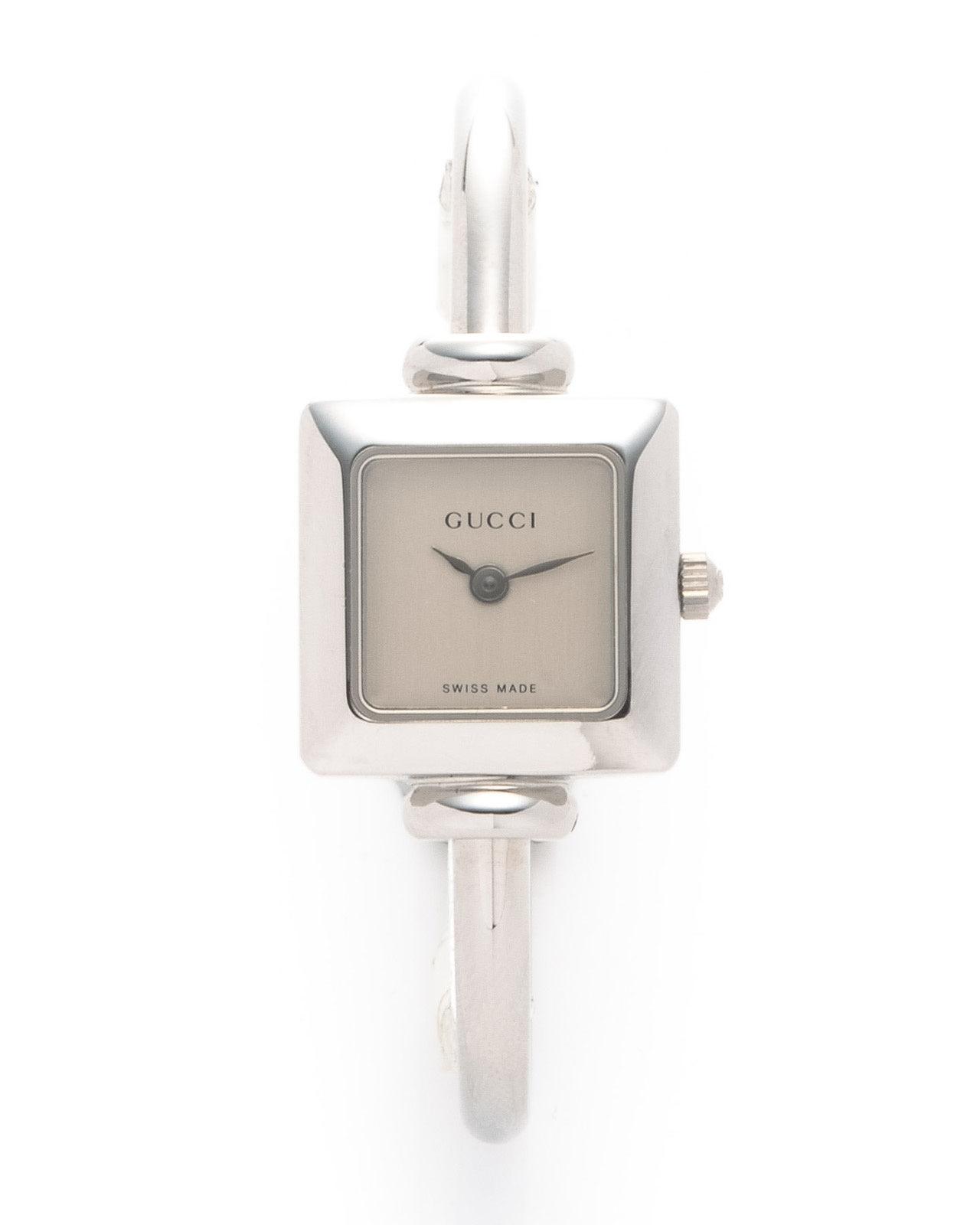 9ed20cffd40 Lyst - Gucci Bangle Watch in Metallic