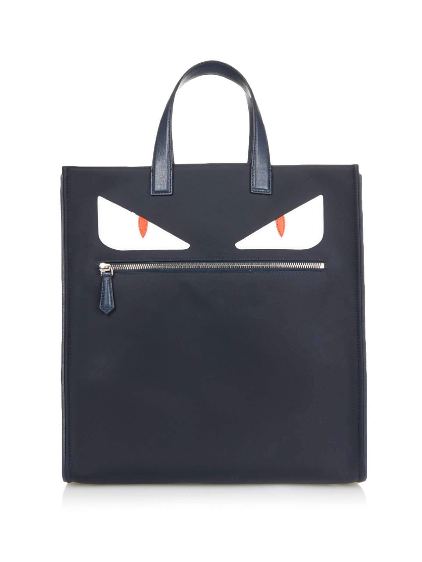 ... norway lyst fendi bag bugs leather and nylon tote in blue for men 5cfc4  5ac79 ... c751747a4b377