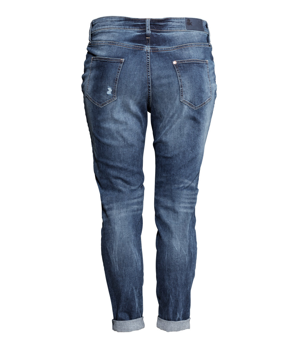 Hu0026m + Boyfriend Jeans in Blue | Lyst