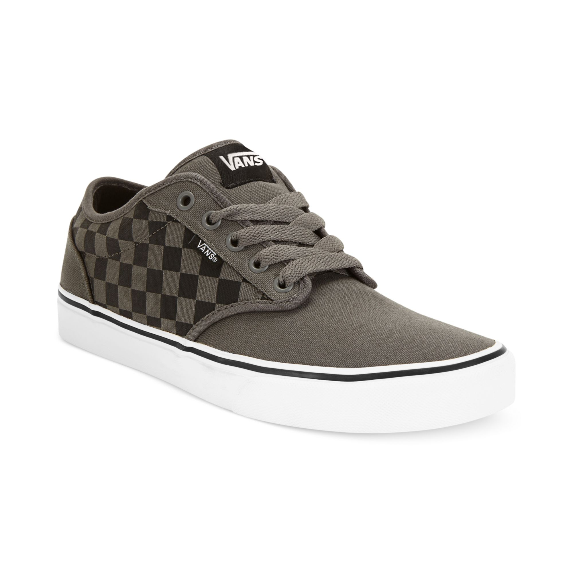 vans grey checkerboard atwood