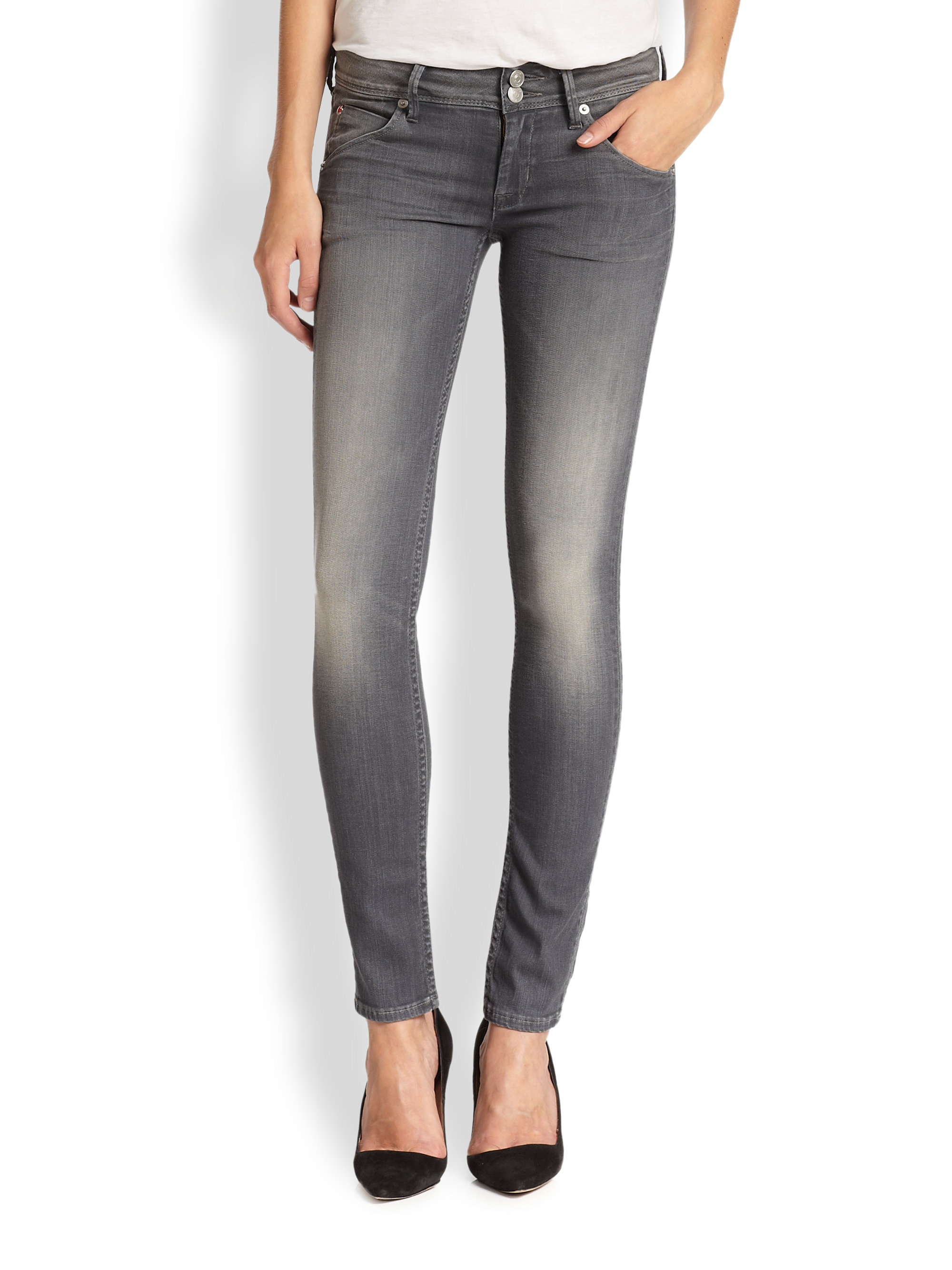 Hudson collin skinny jeans with flap pockets