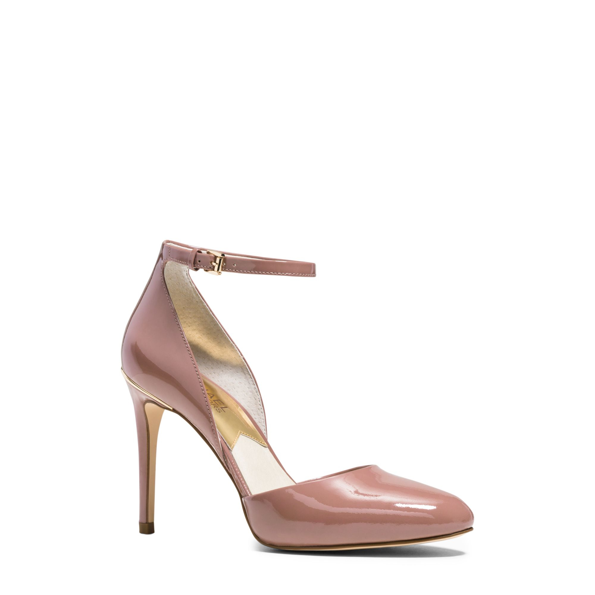 michael kors georgia patent leather pump in pink dusty. Black Bedroom Furniture Sets. Home Design Ideas