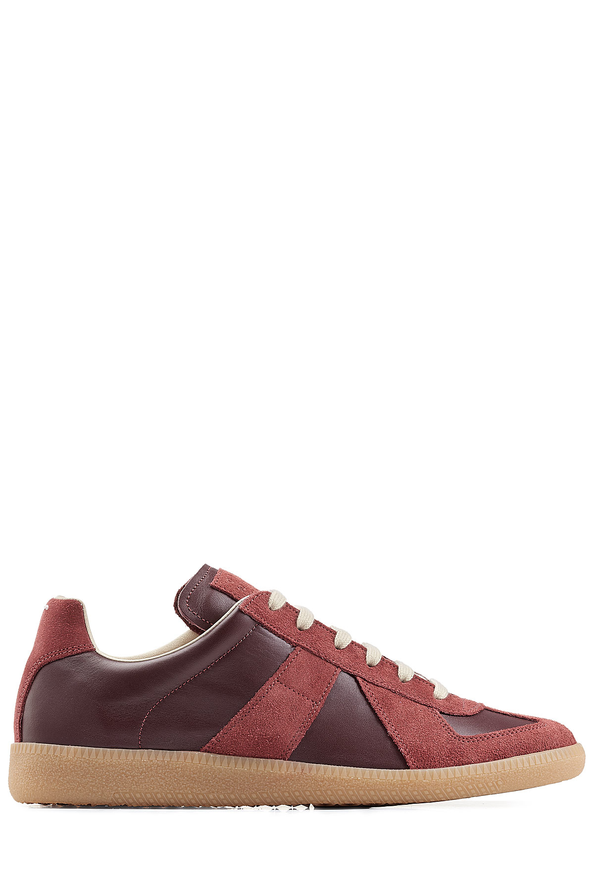 Lyst maison margiela future suede and leather low top for A la maison lotion