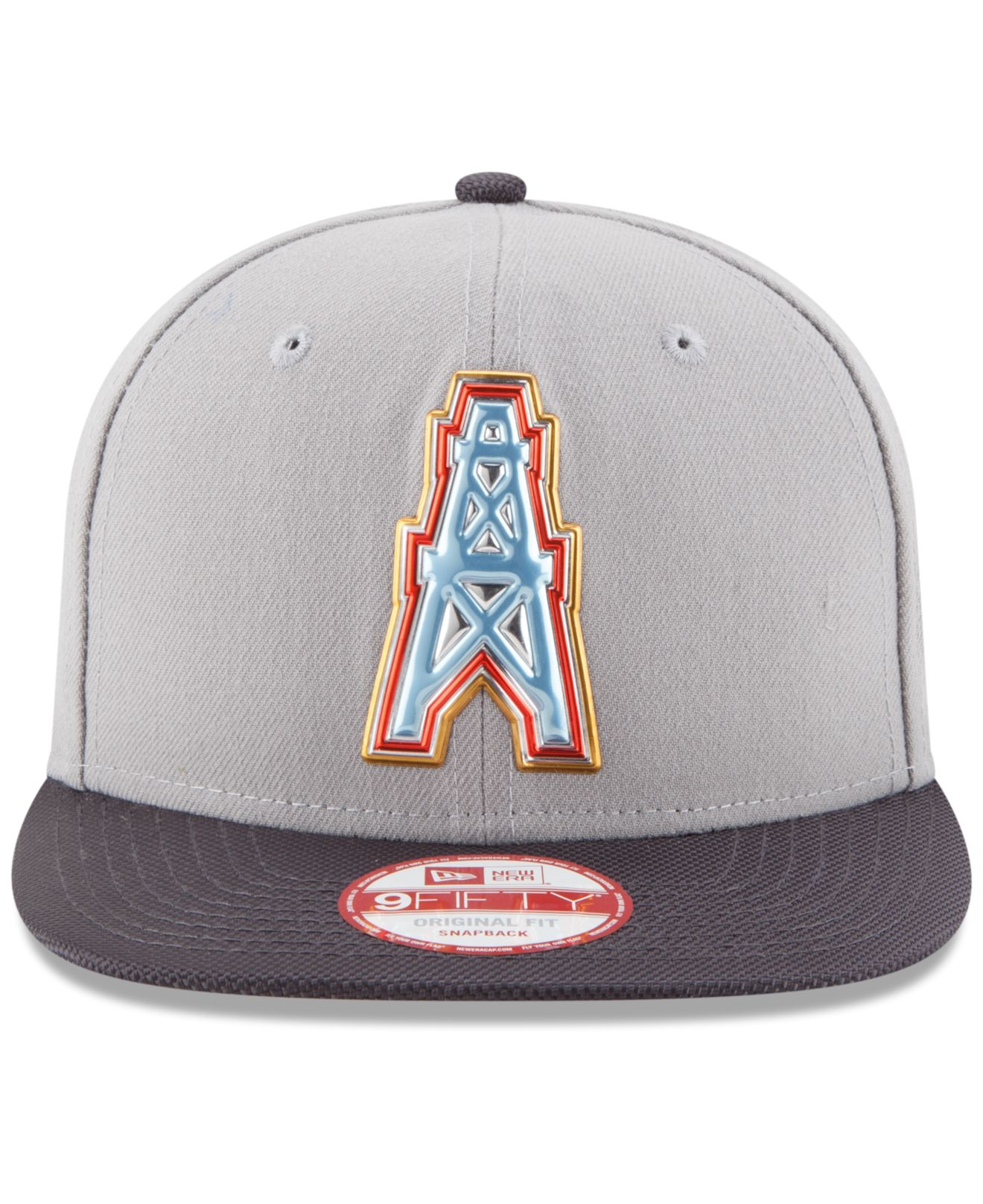 Ktz Houston Oilers Gold Collection 9fifty Snapback Cap in Gray for ...