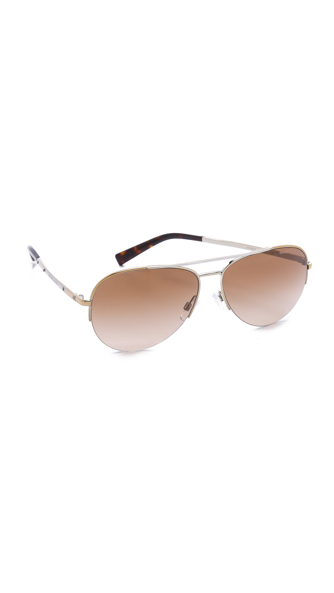 a1c1588d09c Lyst - Michael Kors Gramercy Sunglasses - Gold Rose Gold brown ...