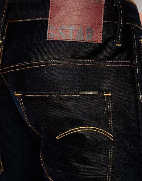 star raw g star jeans arc 3d slim fit indigo aged in blue for men. Black Bedroom Furniture Sets. Home Design Ideas