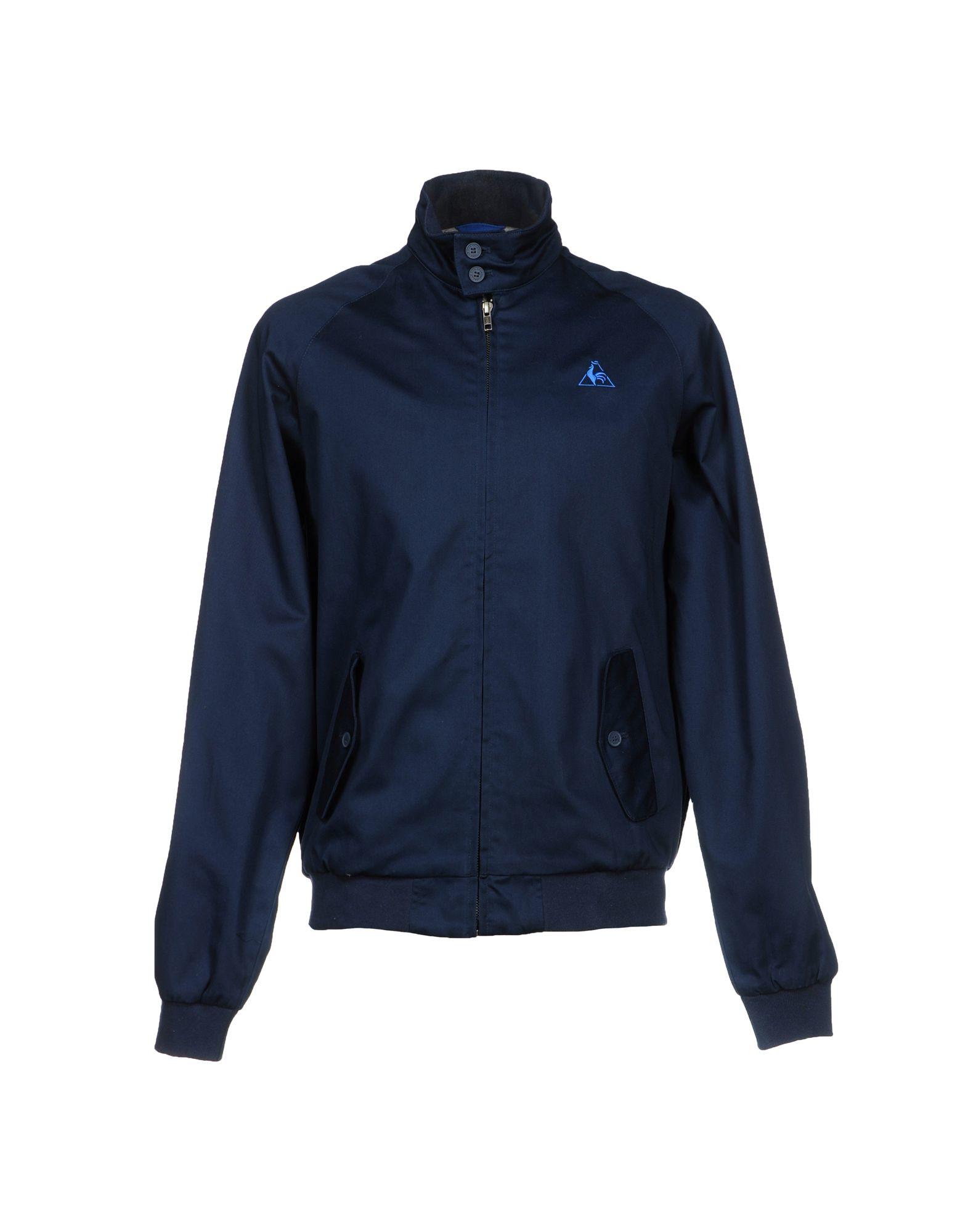 le coq sportif jacket in blue for men dark blue save 38 lyst. Black Bedroom Furniture Sets. Home Design Ideas
