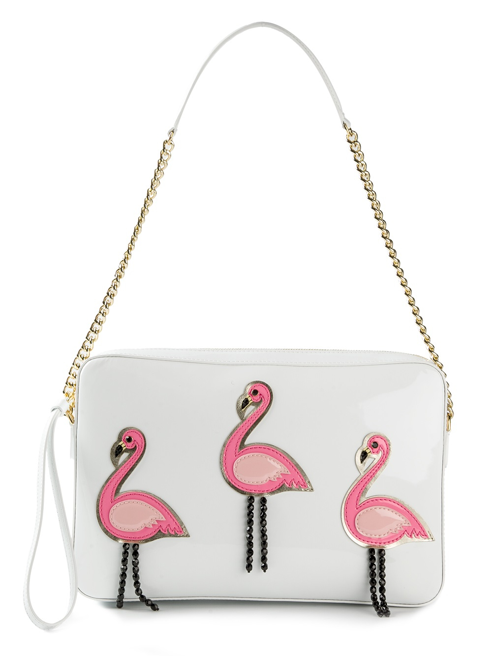 Lyst boutique moschino flamingo shoulder bag in white Inexpensive chic