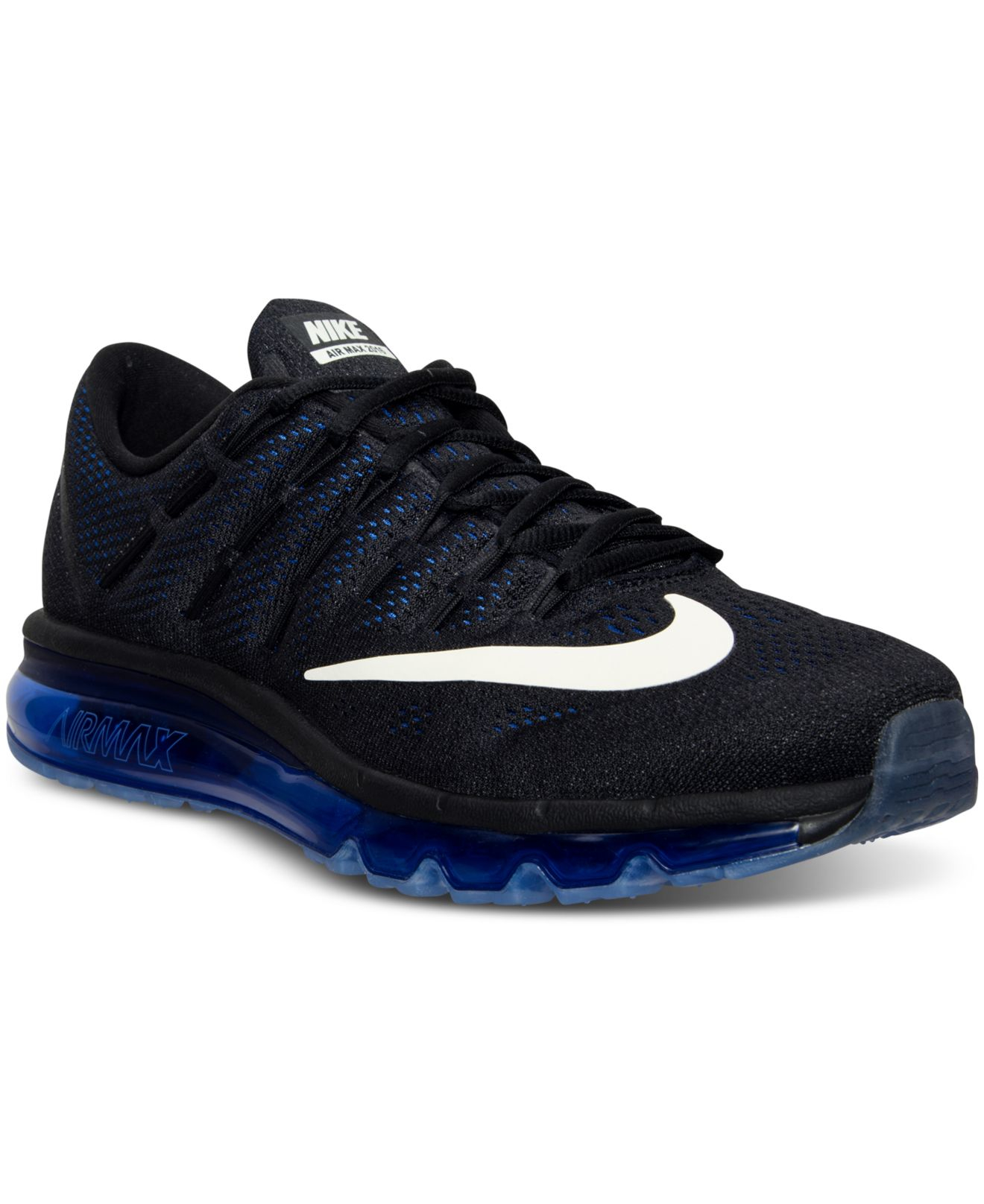 nike running shoes black and blue air max 95 shoes