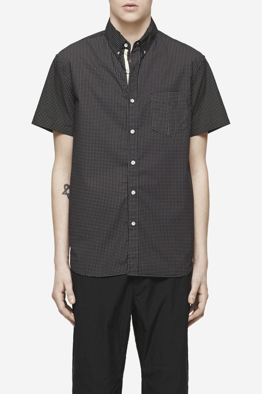 Lyst rag bone dot print short sleeve woven shirt in for Rag bone shirt