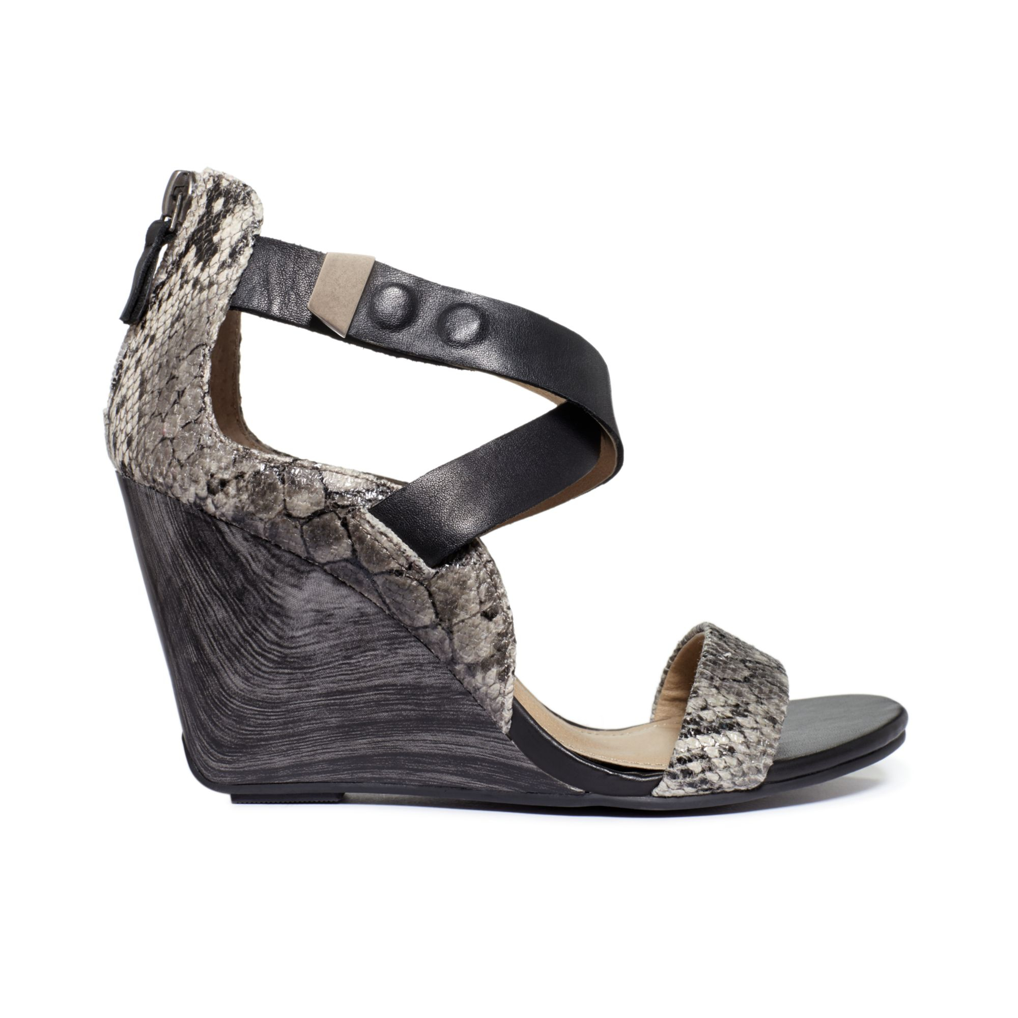 9e3cd2bd5d2 Lyst - Kenneth Cole Reaction Oh Ava Wedge Sandals in Gray