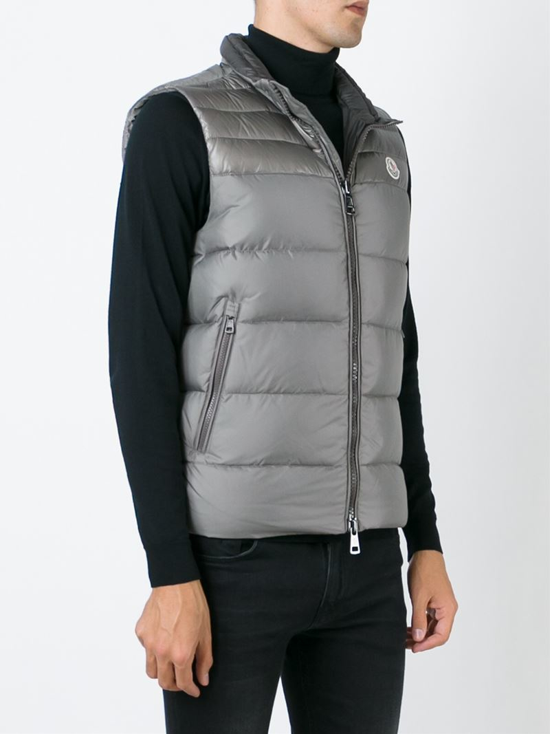 e4a1d19a3eca Lyst - Moncler  dupres  Padded Gilet in Gray for Men